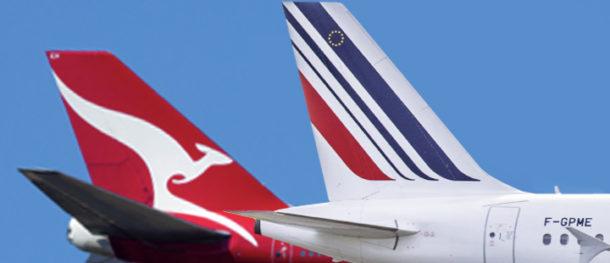 samoloty Air France i Quantas